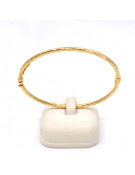 OVAL BRACELET  IN 18K GOLD