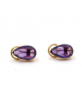 18K GOLD EARRINGS WITH...