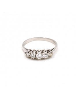 RING IN 18K WHITE GOLD WITH...