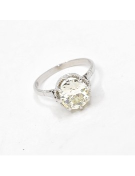 PLATINUM RING, 18K GOLD...