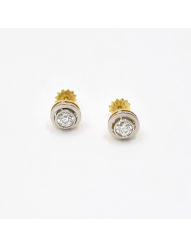 18K GOLD AND BRILLANT EARRINGS