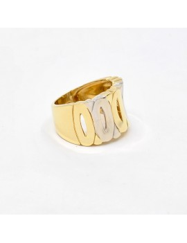RING IN 2 TONES OF 18K GOLD.