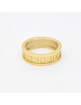 RING IN 18K GOLD WITH ROMAN...