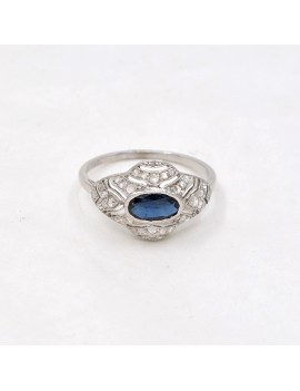 ANTIQUE PLATINUM RING,...