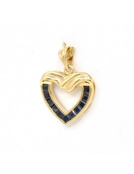 GOLD PENDANT, HEART SHAPE,...