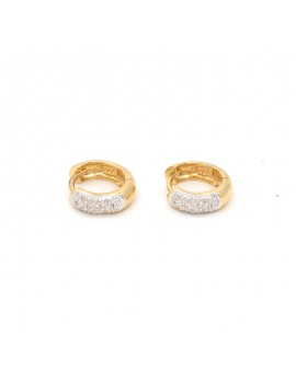18K YELLOW GOLD EARRINGS...