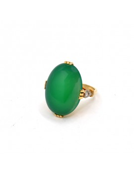 RING CHRYSOPRASE ANTIQUE...