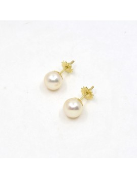 7.5 MM 18K GOLD AND PEARLS...