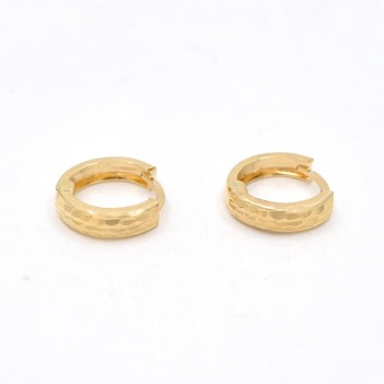 18K GOLD EARRINGS CARVED ON...