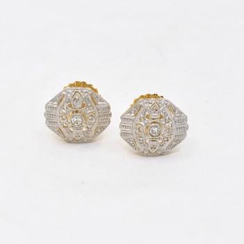 EARRINGS 18K GOLD AND DIAMONDS
