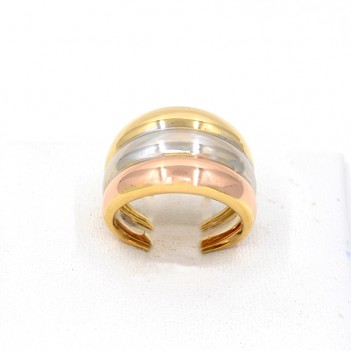 18K GOLD RING. 3 COLORS.