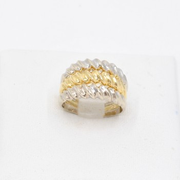 RING IN 18K GOLD, 2 COLORS.