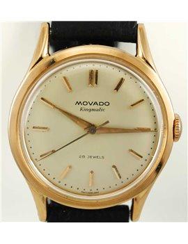 MOVADO 18K PINK GOLD KINGMATIC WATCH