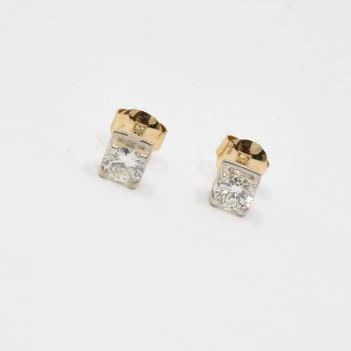 18K GOLD AND DIAMONDS EARRINGS