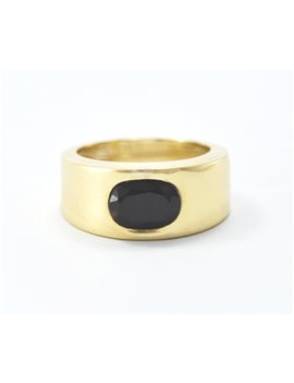 18K GOLD RING AND SAPPHIRE