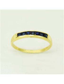 18k yellow gold ring and sapphires
