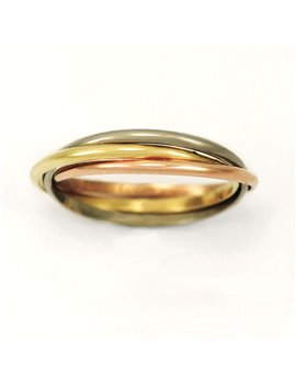 18K GOLD TRIPLE BAN RING