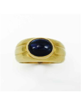 18K YELLOW GOLD RING AND SAPPHIRE
