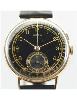 VINTAGE VULCAIN CHRONOGRAPH 18K YELLOW GOLD WATCH