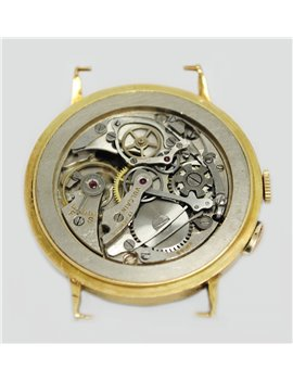 VINTAGE VULCAIN CHRONOGRAPH 18K YELLOW GOLD WATCH