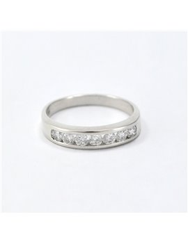 GOLD RING 18K WHITE AND BRILLIANT