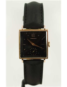 18K GOLD AND LEATHER STRAP LONGINES WATCH