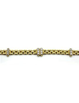 18K GOLD BRACELET WITH DIAMONDS