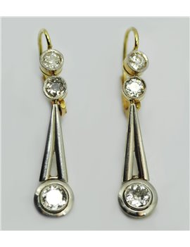 18K GOLD EARRING WITH DIAMONDS