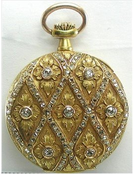 18k gold Pendant watch  for lady