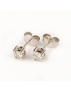 18K WHITE GOLD EARRINGS WITH DIAMONDS