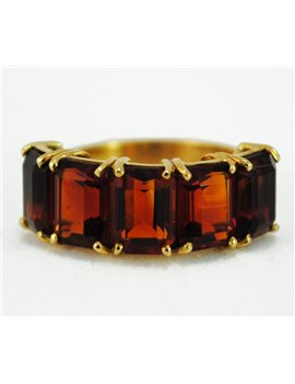 18K GOLD RING WITH 5...