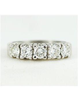 18K GOLD WHITE AND DIAMONDS RING