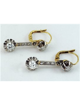18K GOLD AND OLD-CUT DIAMONDS EARRINGS