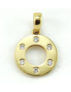 18K GOLD PENDANT AND DIAMONDS