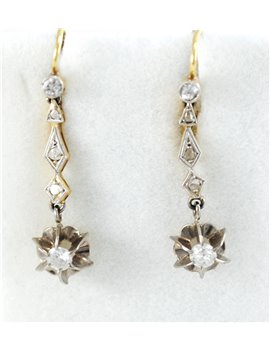 PENDIENTES ORO 18K CON BRILLANTES Y DIAMANTES
