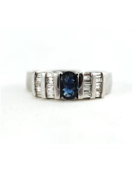 18K GOLD WITH DIAMONDS AND SAPPHIRE