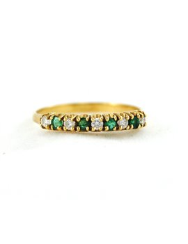 18K GOLD WITH DIAMOND AND EMERALD