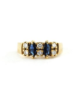 18K GOLD WITH DIAMONDS AND SAPPHIRES