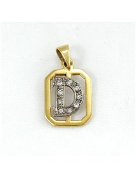 18K GOLD AND DIAMONDS PENDANT