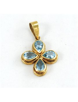 18K GOLD AND TOPAZ PENDANT
