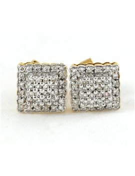 18K WHITE AND YELLOW GOLD WITH DIAMONDS EARRINGS