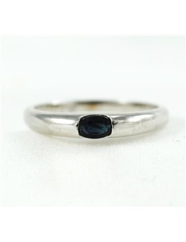 18K WHITE GOLD AND SAPPHIER RING