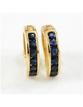 18K GOLD WITH SAPPHIRE EARRINGS