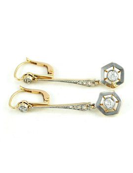 18K GOLD WITH DIAMONDS AND DIAMONDS EARRINGS