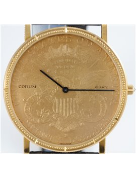 RELOJ CORUM MONEDA 20 DOLARES MOVIMIENTO QUARTZ CON PAPELES