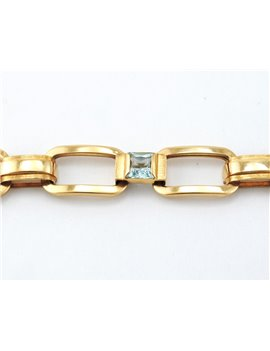 18K GOLD AND TOPAZ BRACELET