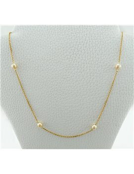 18K GOLD CHAIN WITH PEARLS