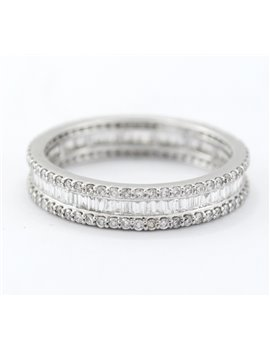 18K WHITE GOLD AND DIAMONDS RINGS