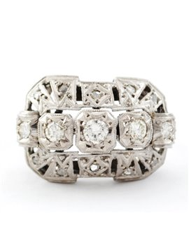 18K WHITE GOLD WITH DIAMONDS AND DIAMONDS