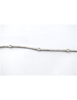 18K WHITE GOLD AND DIAMONDS BRACELET